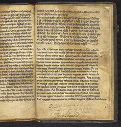 Ownership inscription, in a Venedotian Version Of 'The Law Of Hywel Dda'